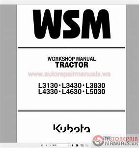 Kubota Full Set Workshop Manual Dvd