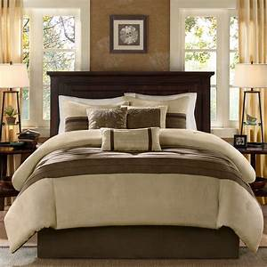 Beautiful, Modern, Cozy, Casual, Brown, Taupe, Beige, Tan, Soft, Comforter, Set, King, Queen