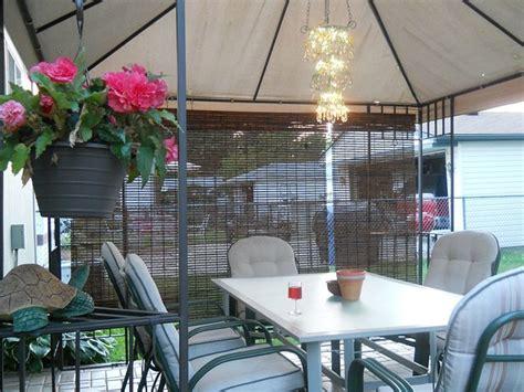 diy outdoor gazebo chandelier traditional patio