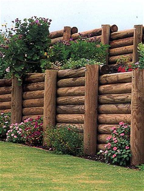 telephone pole landscaping log retaining wall terraced yard design pinterest gardens logs and design