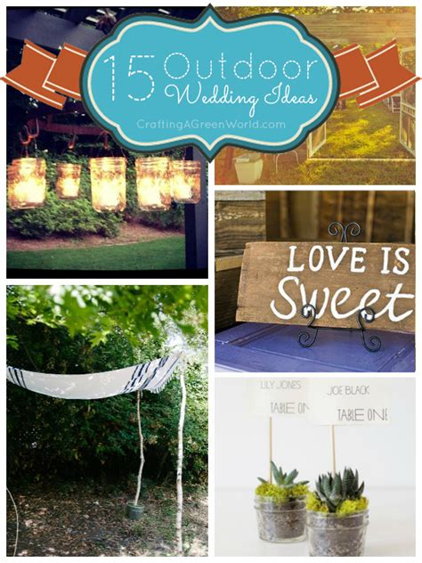 outdoor wedding ideas you can make yourself