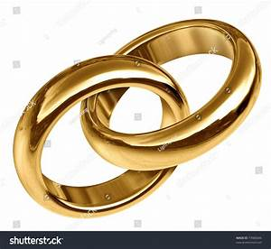 wedding rings linked together representing the concept of With linked wedding rings