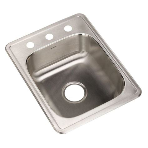 houzer sinks home depot houzer hospitality series drop in stainless steel 17 in 3