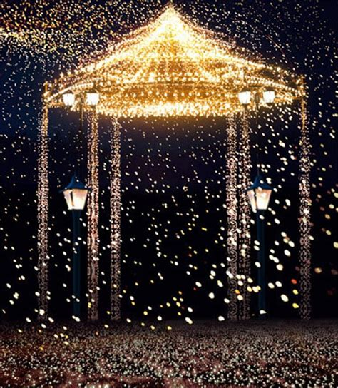 gold lights bright pavilion romantic wedding