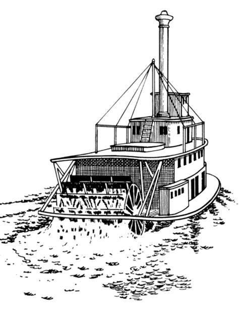 Stern Of A Boat Is Called by Free Mandala Boat Paper Coloring Pages