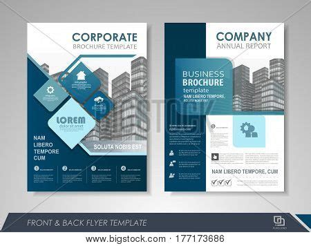 Modern Blue Brochure Design Vector Photo Bigstock Modern Blue Brochure Design Brochure Template Brochures