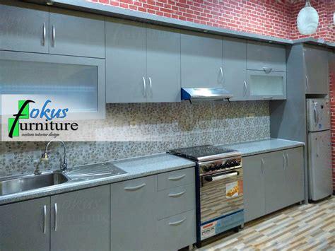 kitchen set lurus fokusfurniture kitchen set lemari custom furniture kitchen