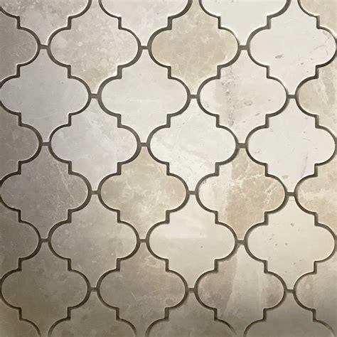 Botticino Marble Arabesque   Lantern Tile