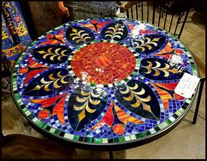 Tile, And, Glass, Mosaic, Tables