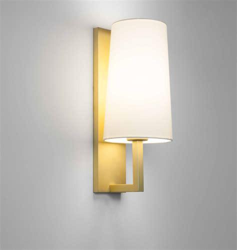 astro riva 350 single wall light matt gold finish 7570