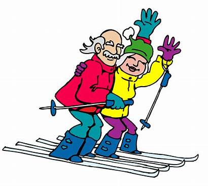 Skiers Cartoon Clipart Age Cliparts Clip Matters