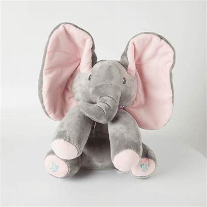 Elephant Peek Boo Plush Musical