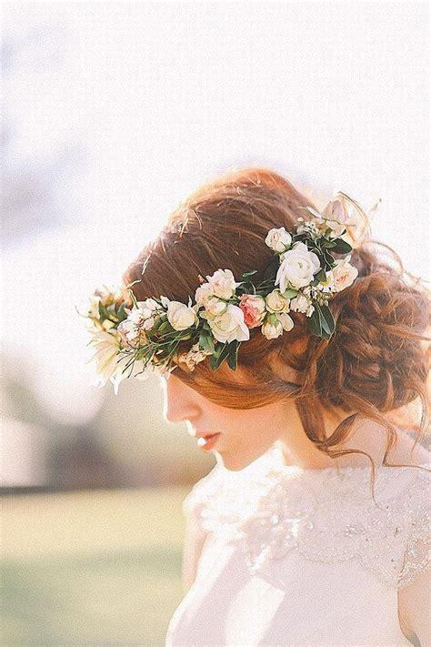 Wedding Hairstyles Floral Hair Crowns #1997893 Weddbook