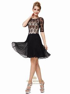 Black And White Cocktail Dresses With Sleeves For Juniors ...