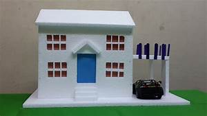 How To Make Thermocol Bungalow House Model School Project ...