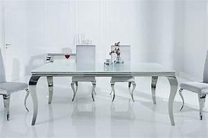Moderne Barock Möbel : stylischer design esstisch modern barock 180cm edelstahl mit tischplatte aus wei em opalglas ~ Sanjose-hotels-ca.com Haus und Dekorationen