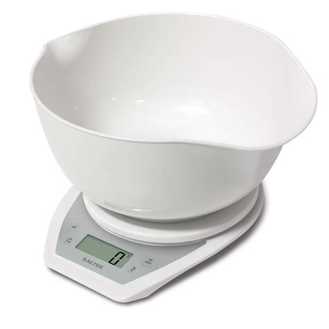salter scales kitchen salter electronic scale with dual pour mixing bowl white