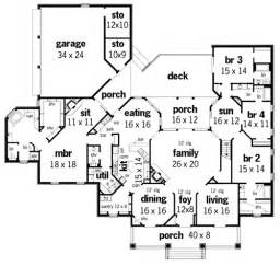 plantation house floor plans springhill plantation 4001 3608 4 bedrooms and 4 baths the house designers