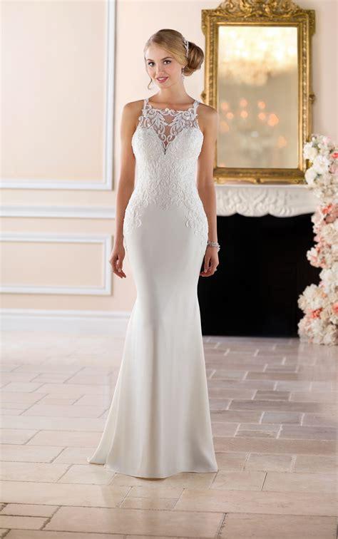 wedding dresses high neck sheath wedding dress stella york