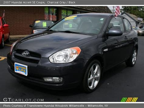 2007 Hyundai Accent Se by Charcoal Gray 2007 Hyundai Accent Se Coupe Black