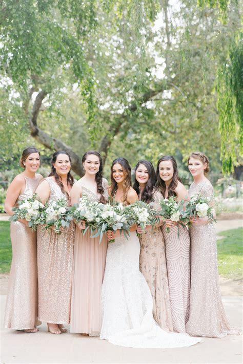 neutral wedding colors mismatched bridesmaid dresses neutral wedding colors