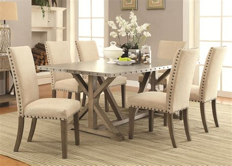 Coaster Webber 7 Piece Transitional Style Table And Chair