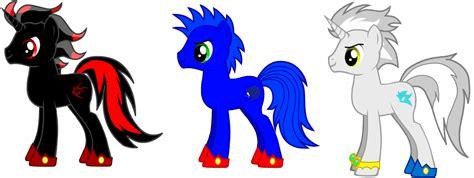 Shadow, Sonic And Silver Ponyized By Roseprincessmitia On