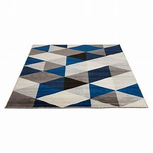 tapis jaune et bleu idees de decoration interieure With tapis bleu jaune