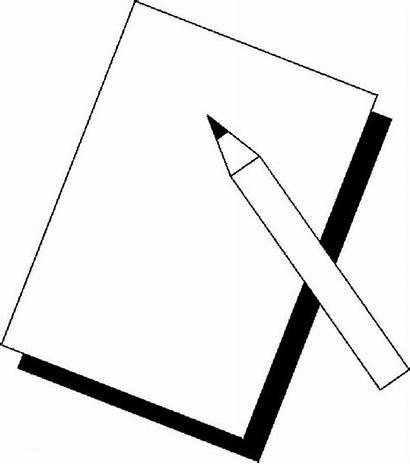 Paper Pencil Coloring Pages Pencils Cartoon Piece