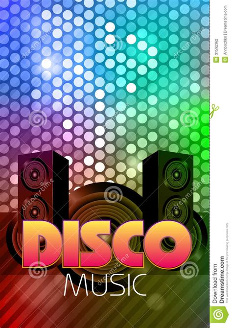 Billboard Illustration disco poster abstract background stock vector 919 x 1300 · jpeg