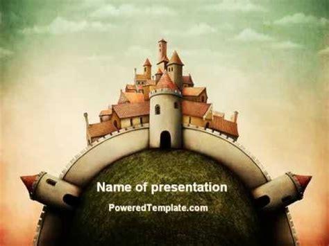 fantasy castle powerpoint template  poweredtemplatecom