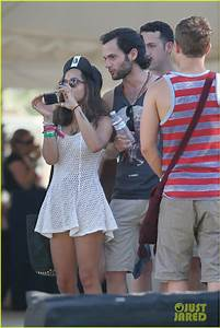 Full Sized Photo of zoe kravitz penn badgley coachella ...