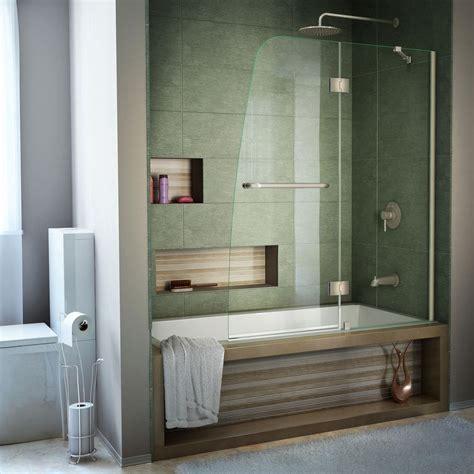 dreamline aqua      semi framed pivot tub
