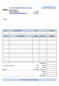 freelance invoice template excel invoice example With invoice template for freelance work