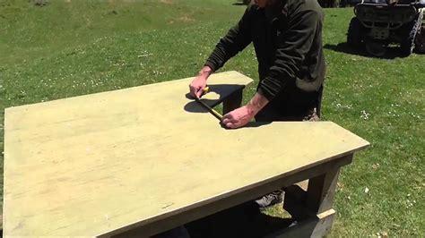 shooting bench design youtube