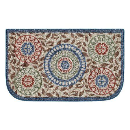 kitchen rugs walmart better homes and gardens medallion kitchen rug multi