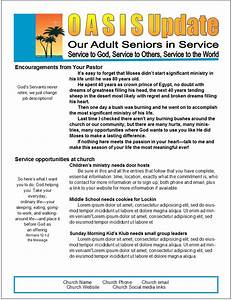 easy 2 page senior newsletter template in ms publisher With two page newsletter template