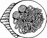 Spaghetti Meatballs Clip Johnny Svg Onlinelabels sketch template