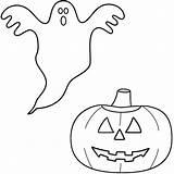 Ghost Coloring Pages Pumpkin Halloween Scary Drawing Print Lantern Jack Popular Very Printable Sheets Printables Real Preschoolers Space Pdf Coloringhome sketch template