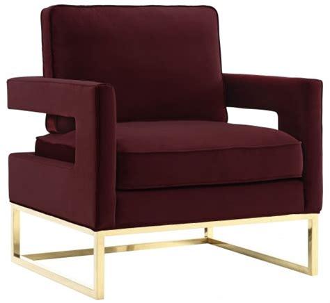 avery maroon velvet chair  tov coleman furniture