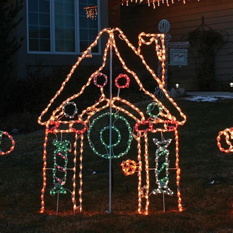 gingerbread house lights decorations lighted outdoor gingerbread house frontgate outdoor