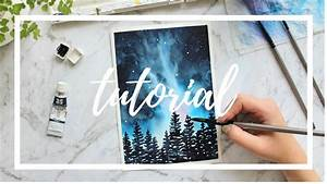 Step By Step Galaxy Tutorial  Painting With Watercolor