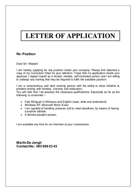 Attached Find My Resume by Marlin De Jongh Cv
