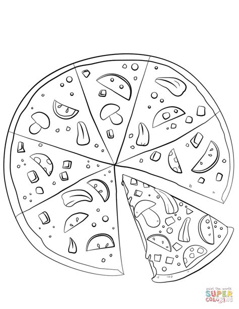 sliced pizza coloring page  printable coloring pages