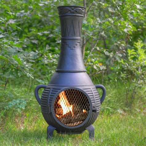 Fireplace Chiminea - pine cast iron chiminea outdoor fireplace