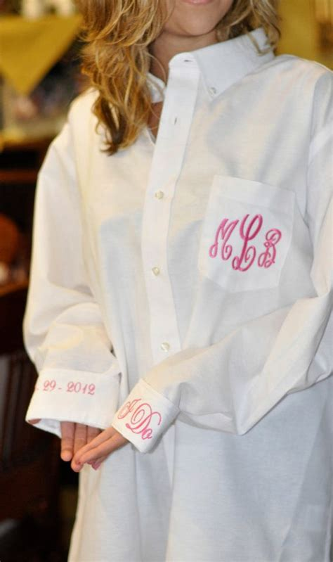 monogram bride shirt button down for wedding day over