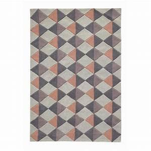 Tapis a poils courts 160 x 230 cm nordic rose maisons du for Tapis gris poil court