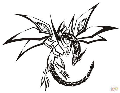 tribal dragon tattoo coloring page  printable