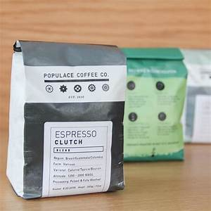 nice package populace coffee in bay city michigan With coffee bag label printer