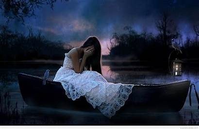 Sad Wallpapers Feeling Quotes Sadness Woman Very